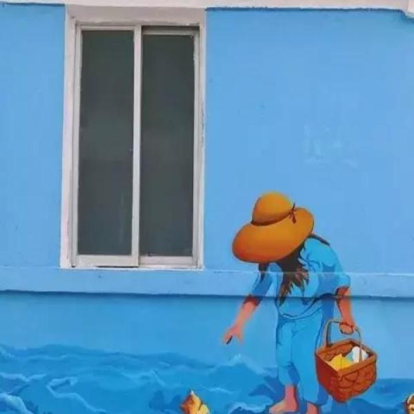 粉刷蓝天卡通素材